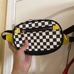 Checkered/neon Fanny Pack -Forever 21
